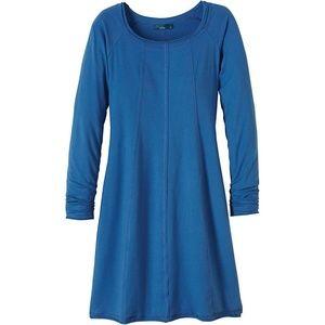 Prana Casual Long-Sleeve Dress (Blue)